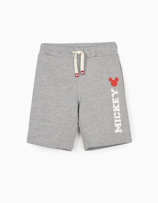 Sports Shorts for Boys, 'Mickey Mouse', Grey