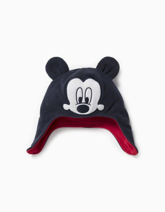 Gorro Polar com Tapa-Orelhas para Bebé Menino 'Mickey', Azul Escuro