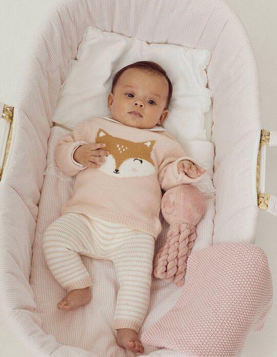 Trousers + Jumper for Newborn Baby Girls, Light Pink
