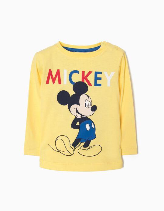 T-shirt Mangas Compridas Mickey