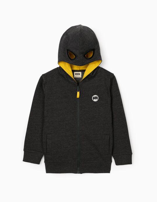 Jacket with Hood-Mask for Boys 'Batman', Dark Grey