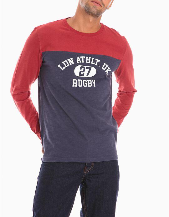 T-Shirt Mangas Compridas Rugby