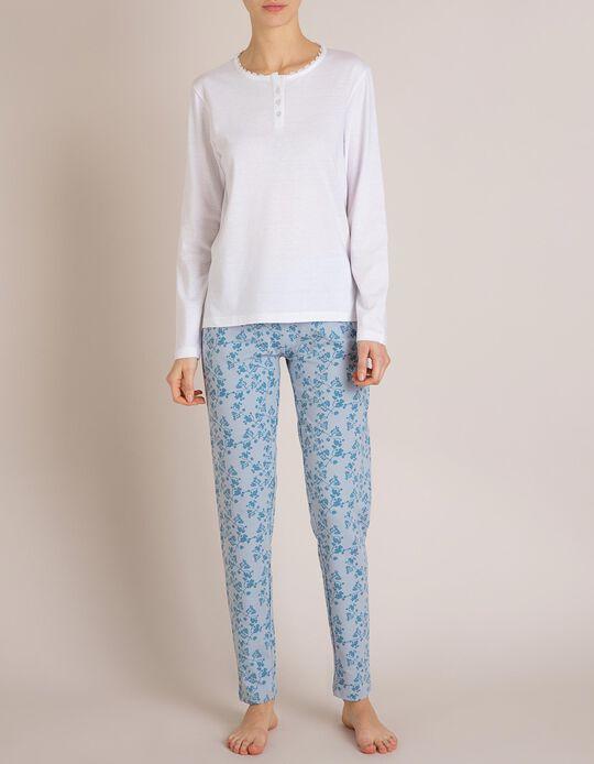 Calças Pijama Azuis
