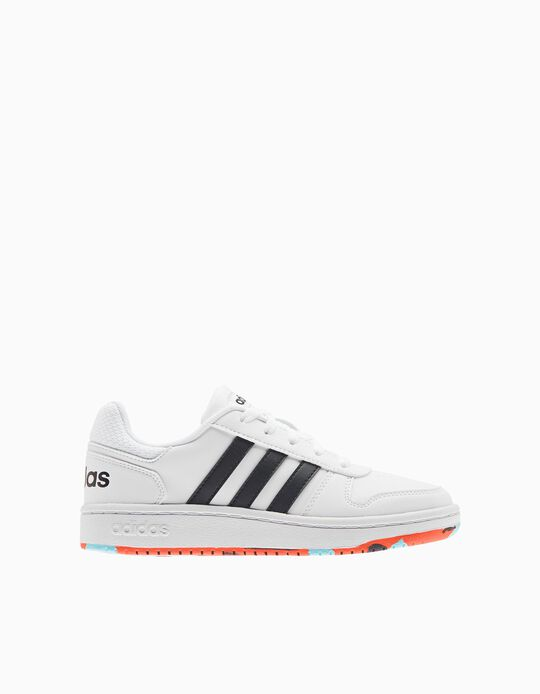 Adidas Hoops 2.0 Trainers, Kids, White