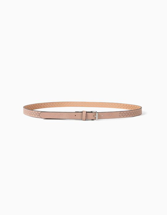 Textured Pink Belt, Women