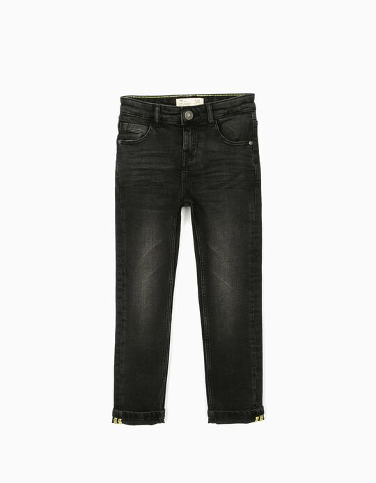 Denim Trousers for Boys, Black