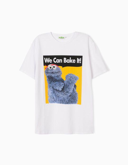 T-shirt Branca 'Sesame Street', Homem