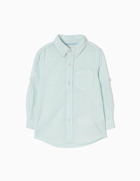 Camisa Linho Verde Água