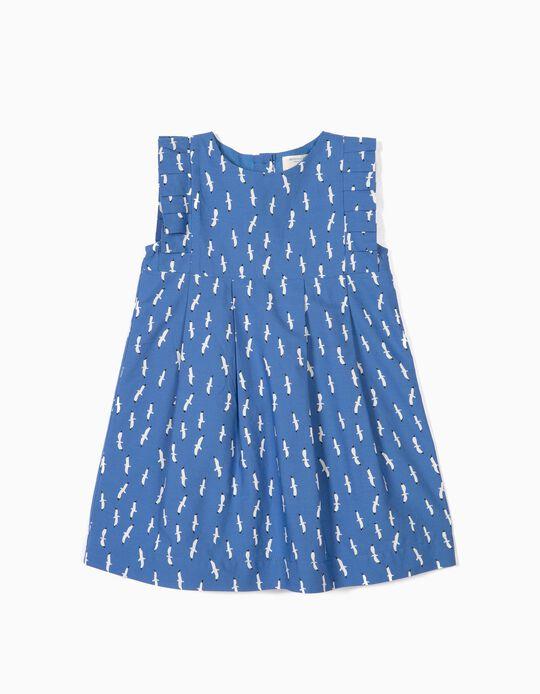Vestido para Bebé Menina 'B&S' Gaivotas, Azul