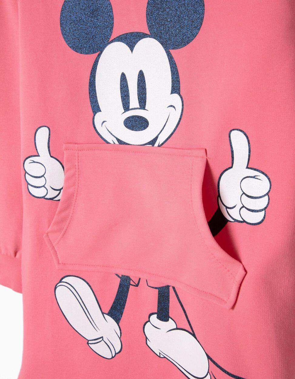Vestido com Capuz Mickey Rosa