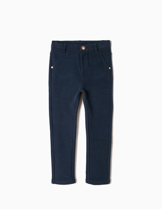 Calças Leggings Azuis com Interior Cardado