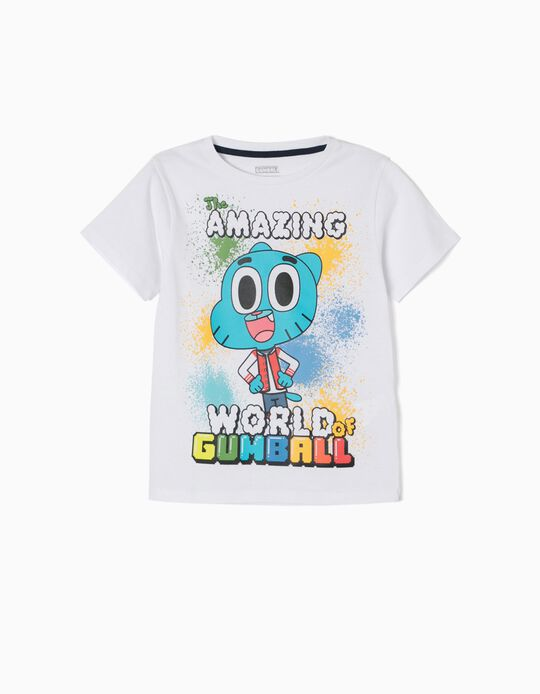 T-shirt Gumball Branca