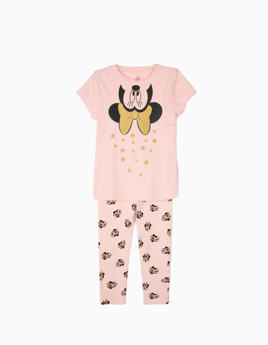'Minnie Mouse' Pyjamas with Stars for Girls, Pink