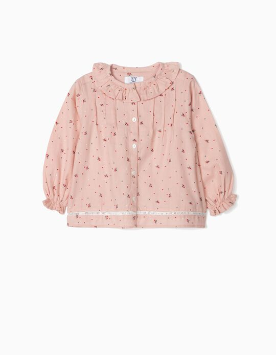 Blouse for Baby Girls 'Flowers', Pink