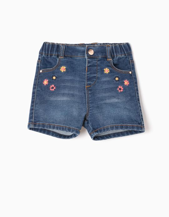 Denim Shorts, Flowers