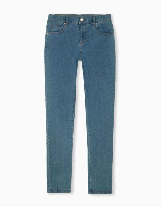 High Waist Jeans, Women, Light Blue