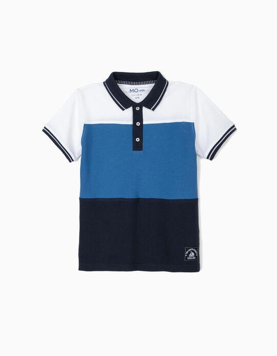 Colourblock Polo Shirt