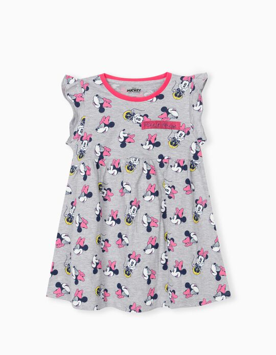 Minnie Mouse Dress, Girls, Grey/ Pink