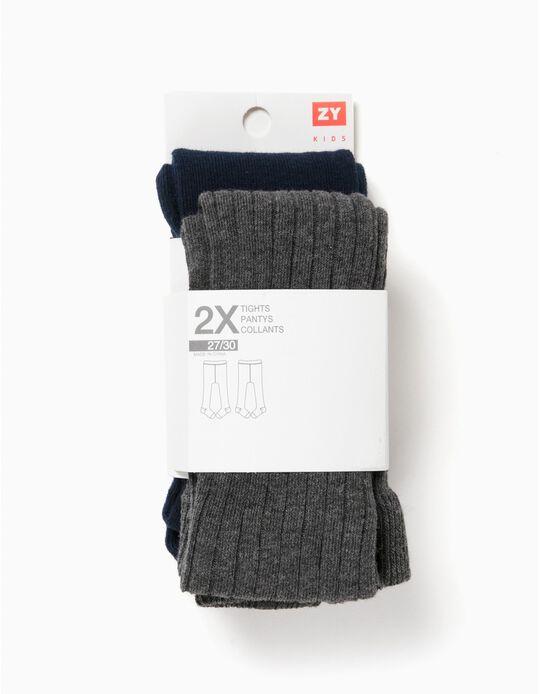 Pack 2 Collants Rib