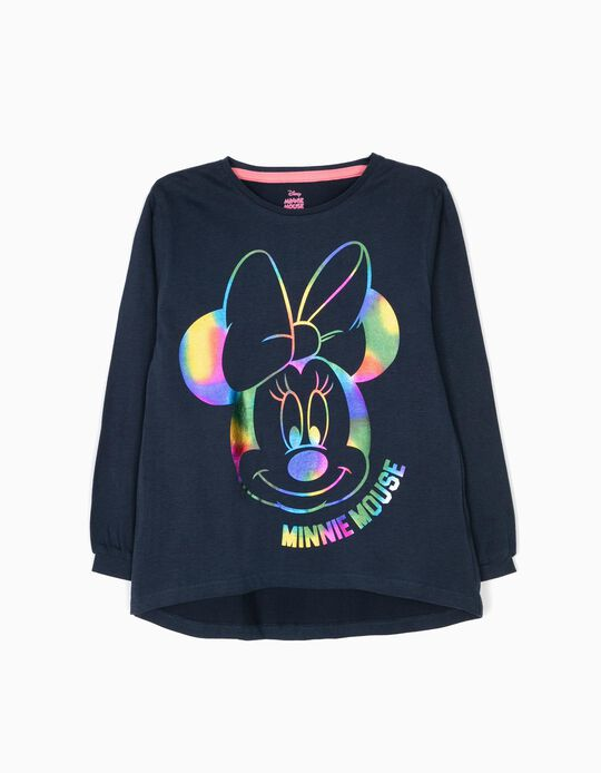 Blue Long-Sleeved Top, Minnie Mouse