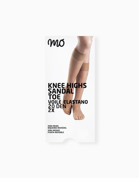 Pack of 2 Pairs Knee Highs 20 Den