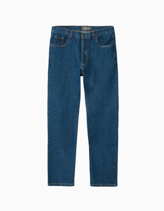 Jeans, Homem, Azul Escuro