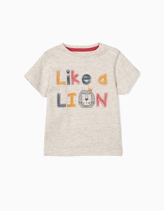 T-shirt para Bebé Menino 'Like a Lion', Cinza