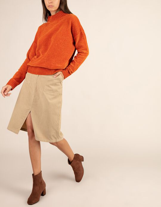 Front Opening Pencil Skirt