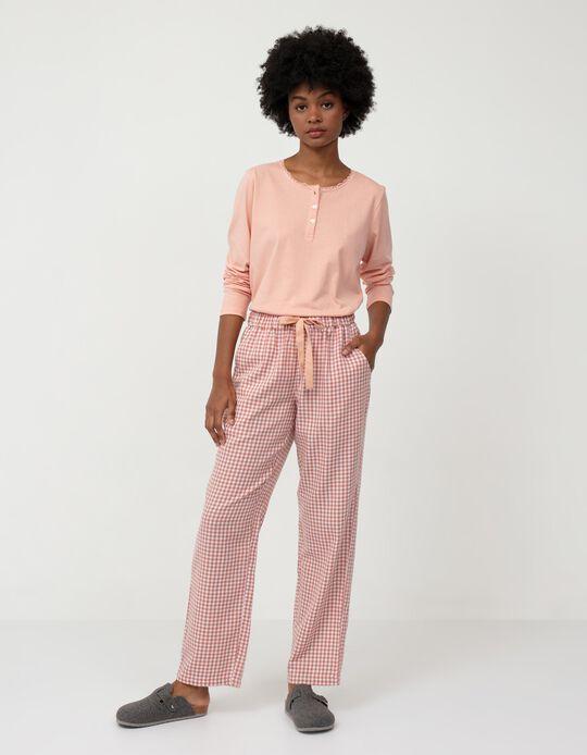 Chequered Pyjama Bottoms, Pink