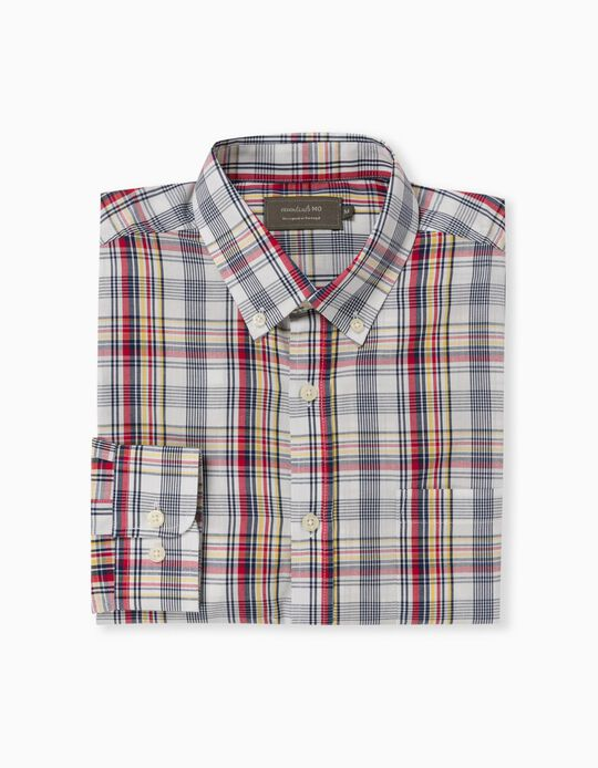 Chequered Shirt for Men, Red