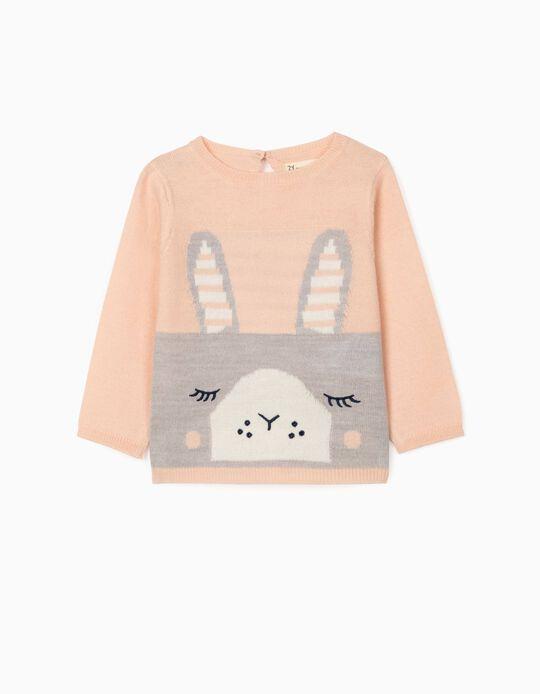 Camisola de Malha para Recém-Nascida 'Cute Bunny', Rosa