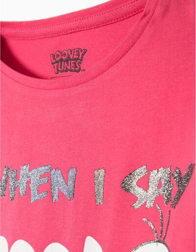 T-shirt manga comprida Tweety e Sylvester