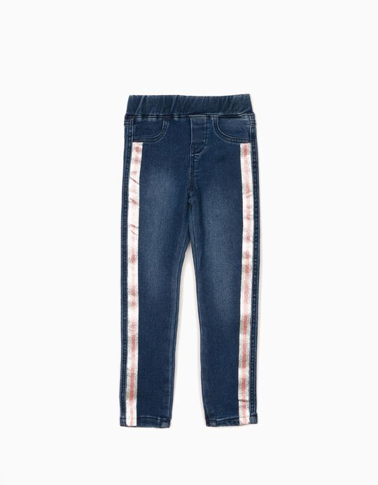 Jeans with Silver & Pink Stripes