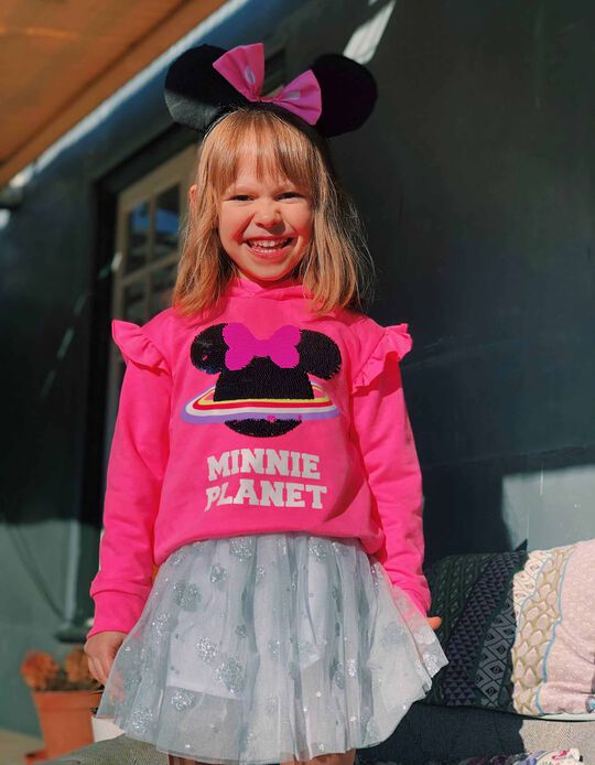 Hooded Sweatshirt for Girls 'Minnie Mouse Planet', Pink