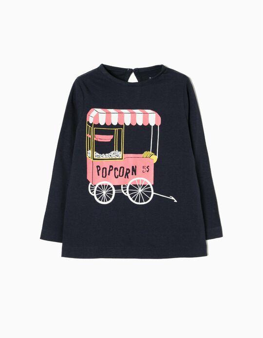 T-shirt Manga Comprida Popcorn