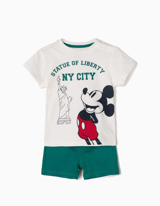 T-Shirt & Shorts, Mickey Statue of Liberty