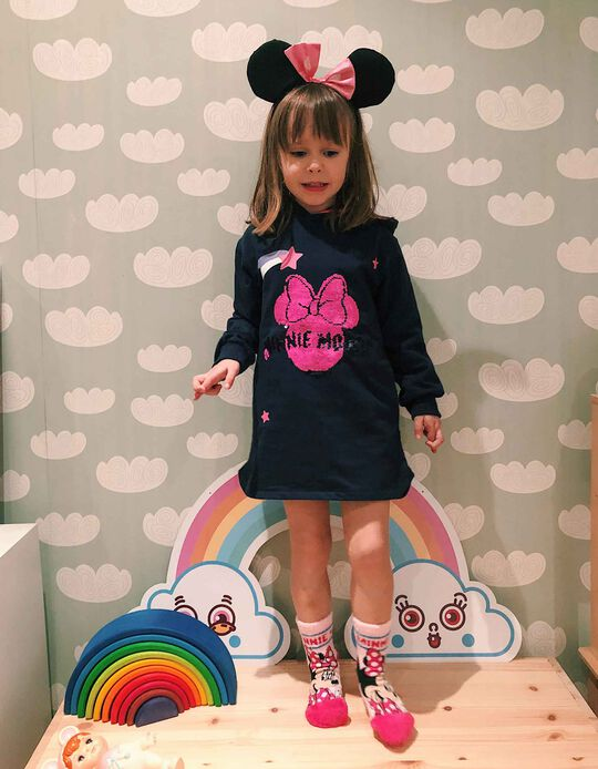 Hooded Dress for Girls 'Minnie Mouse', Dark Blue