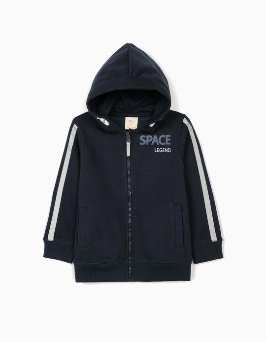 Hooded Jacket for Boys 'Space Legend', Dark Blue