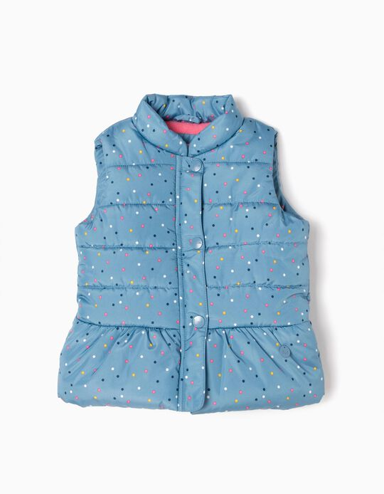 Padded Waistcoat, Colourful Dots