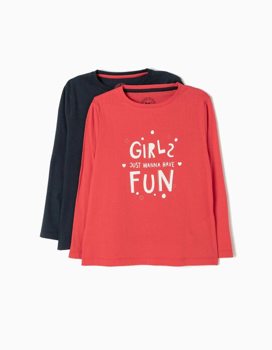 Pack 2 T-Shirt Girls Just Wanna Have Fun