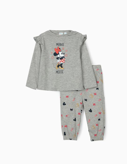 Pyjamas for Baby Girls, 'Minnie Mouse', Grey