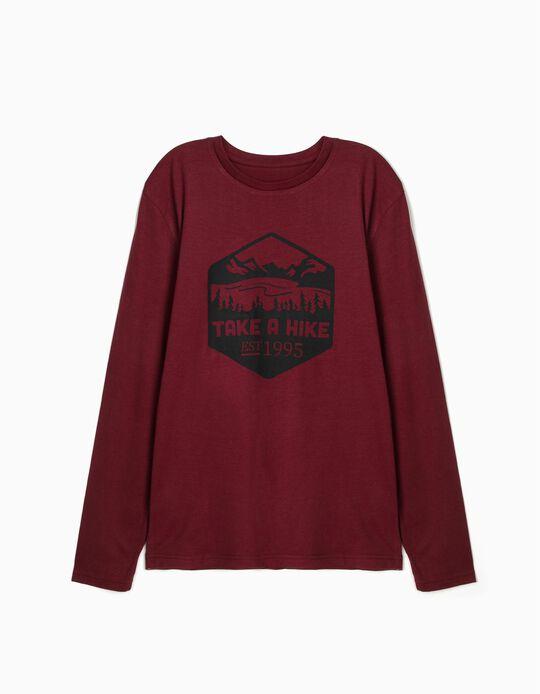 T-shirt de manga comprida 100% algodão