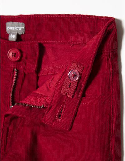 Calças bombazine 5 bolsos