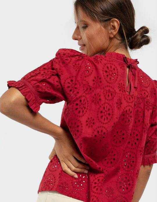 Blusa bordado inglês