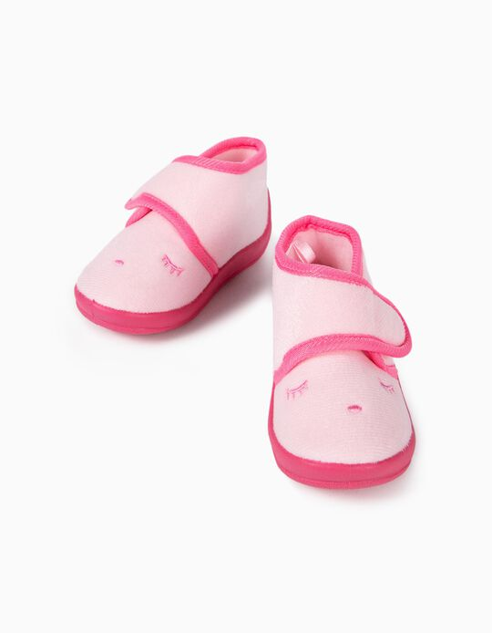 Slippers for Baby Girls 'Sleepy', Pink
