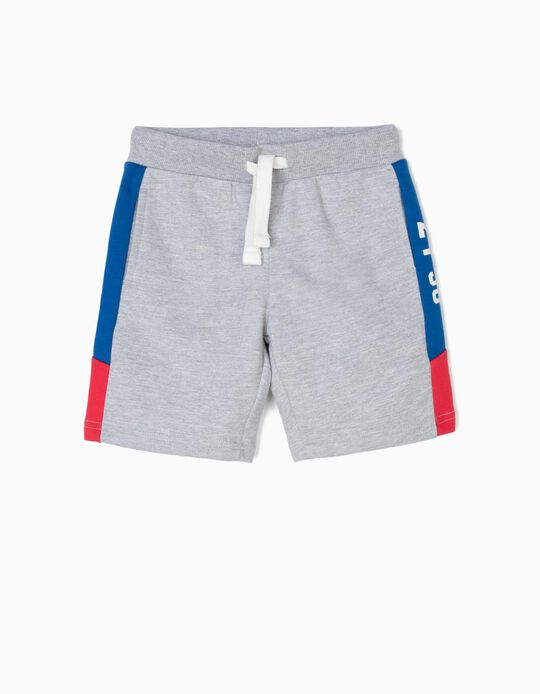 'ZY 96' Track Suit Shorts for Boys, Grey