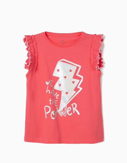 T-shirt para Menina 'We Have the Power', Rosa