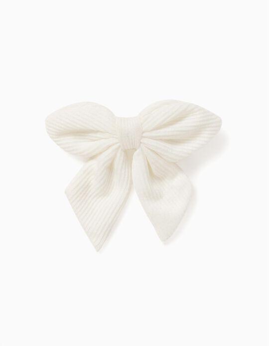 Hair Slide for Girls, White