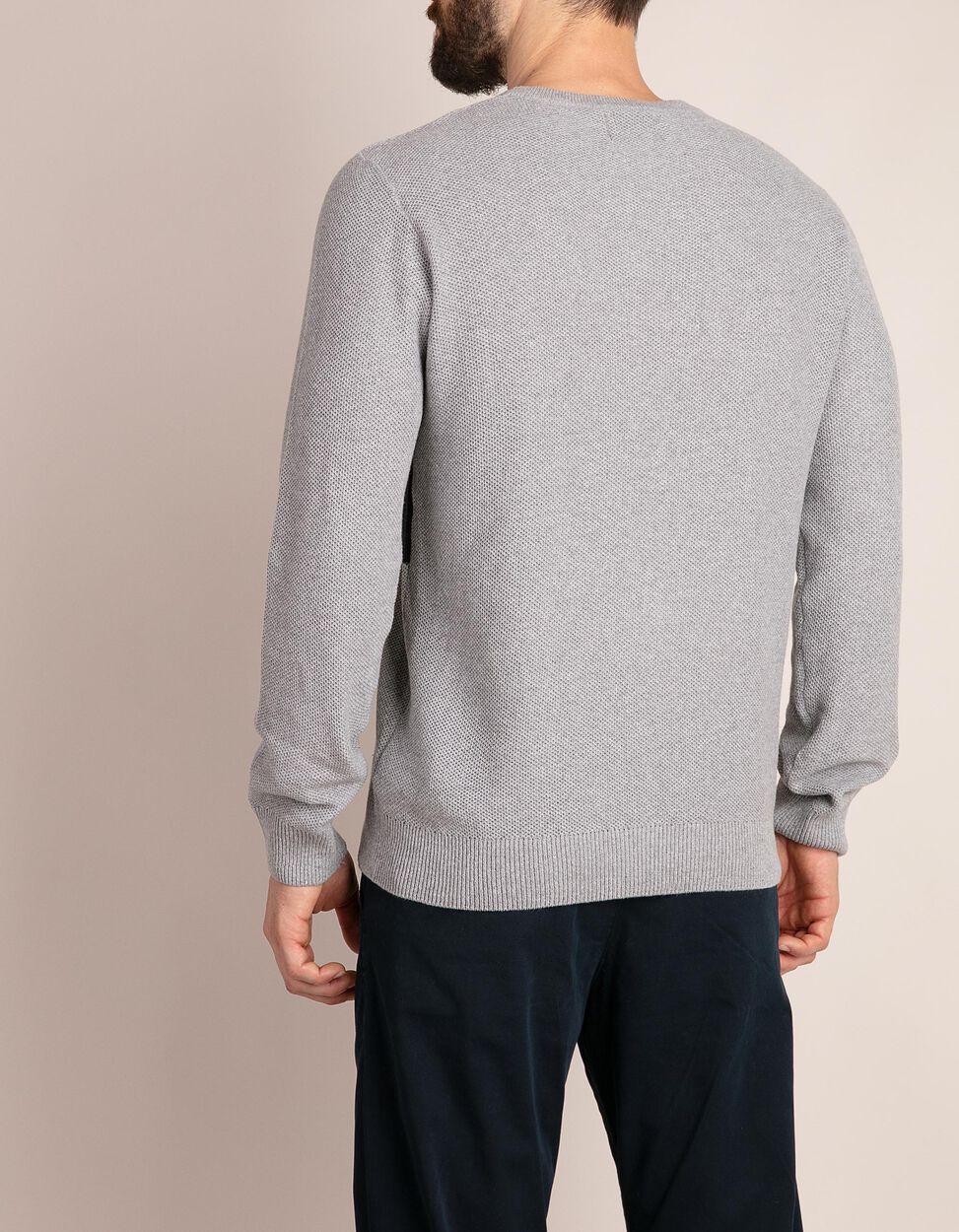 Camisola de malha tricotada em algodão reciclado