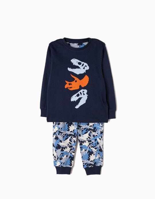 Pijama Manga Comprida e Calças Dinossauros